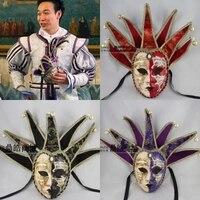 070444 mode créative haut de gamme Italien plein visage main mascarade carnaval antique vénitien masques livraison gratuite