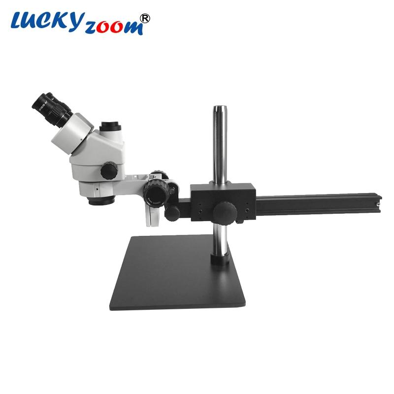Luckyzoom Brand Professional 7X-45X Trinocular Guide Mikroskop stereo - Przyrządy pomiarowe - Zdjęcie 2