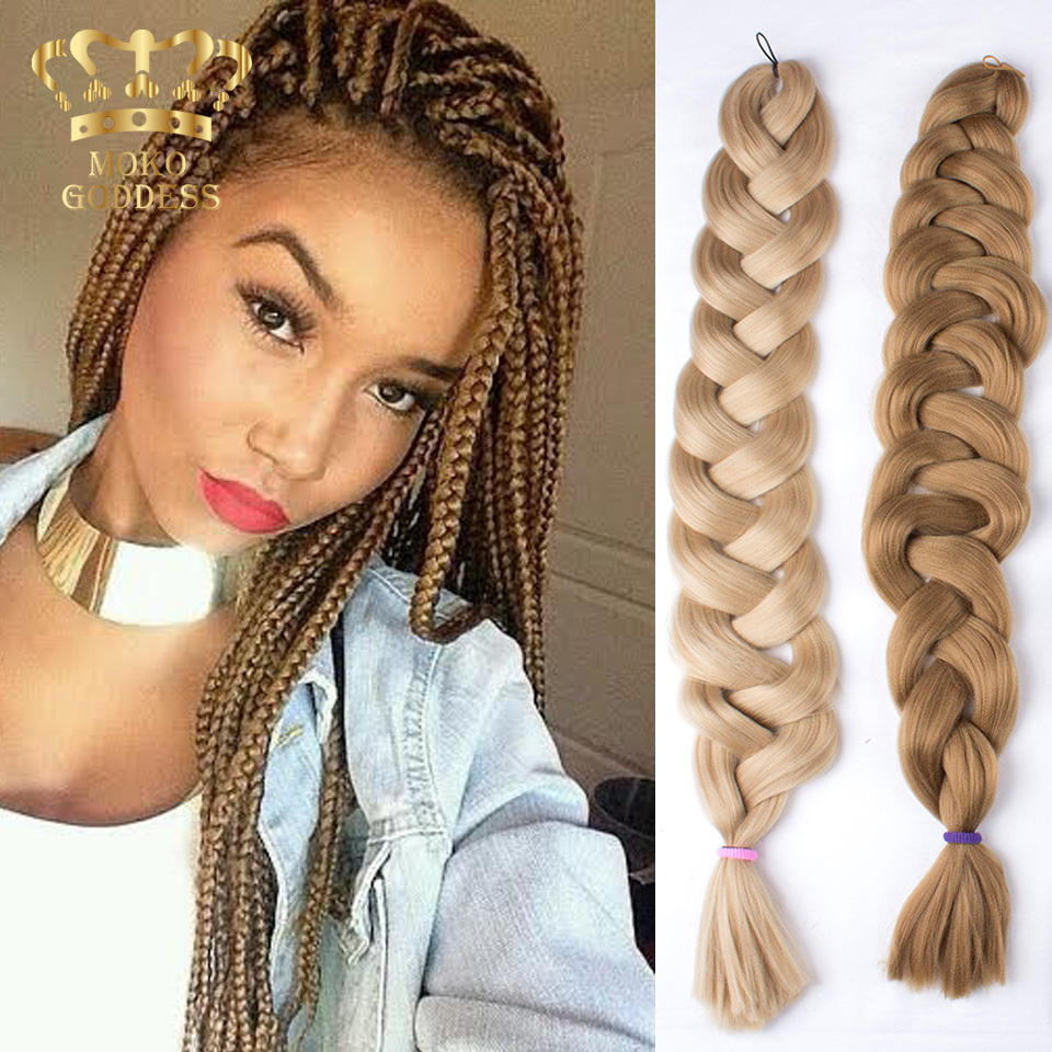 165g 41inch Lots Synthetic Hair For Braid Crochet Hair Extensions Xpression  Braiding Hair Extension Black African