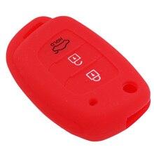 3 Buttons Flip Folding Silicone Car Key Cover Fit for Hyundai i10 i20 i30 IX25 IX35 IX45 Elantra Accent Avante Porter Grand