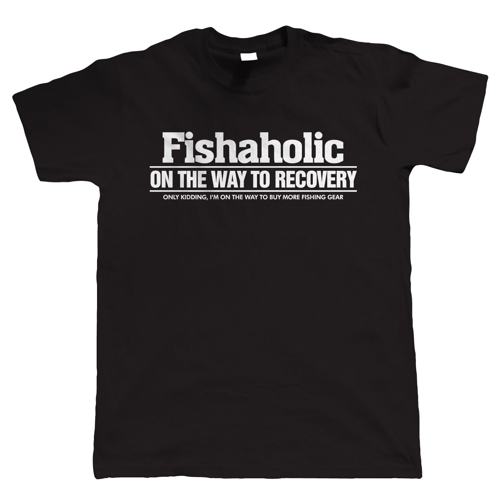 Best Funny T Shirts Personalised Office Fisheraholic Fishinger T Dad Fathers Day MenS Short Comfort Soft Shirt
