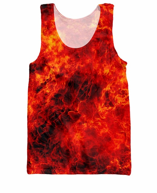 RuiYi Fire Tank Top Sexy outfit summer shirt Women Vest casual tops streetwear men  jersey camis tee plus size