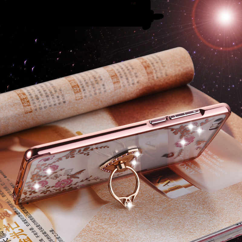 Zachte Bling Case Cover Ring Houder voor Xiao mi rode Mi S2 6 6A 6 PRO 4 prime 4A 4X 5a 5 plus Rood mi note 4 4X 5A 5 6 pro Mi A2 lite