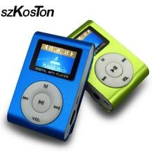 Spor MP3 çalar LCD ekran ile/Metal Mini klip Metal renkli taşınabilir MP3 müzik çalar ile mikro TF/SD kart yuvası