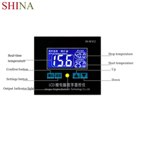 SHINA Digital Thermostat 12V 220V LCD Temperature Controller Regulator For Incubator Termostat With Waterproof Probe
