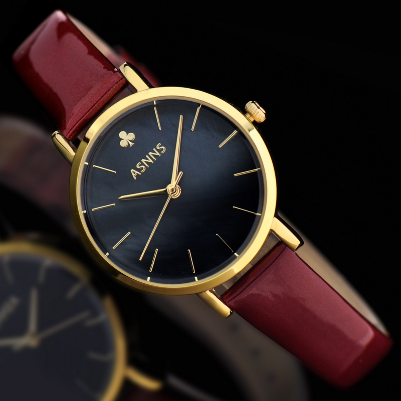 2016 new design fashion belt female form mother of pearl dial minimalist trend quartz watch