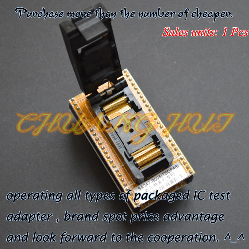 все цены на IC TEST TSOP48 to DIP48 Programmer Adapter Clamshell TSOP48 socket SA247B-005 Programmer Adapter онлайн