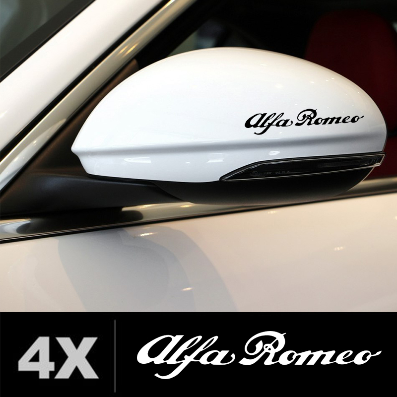 Automobile,4pcs 10cm For Alfa Romeo Racing Wing Mirror Glass Car Decal Stickers Da-6y Car Stickers