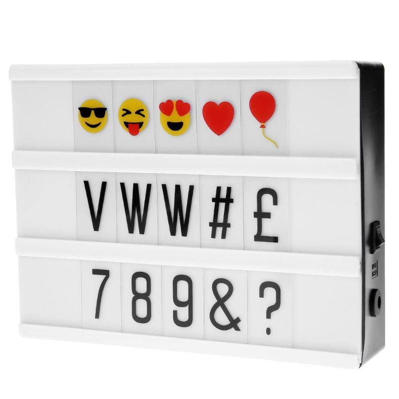 A5 Size LED Magnetic Light Box DIY Letters Number Combination Night Lamp Set USB Cinema Light box for Home Decoration