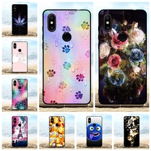 For Xiaomi Mi Mix 2S Case Ultra-slim Soft TPU Silicone Cover Floral Pattern Coque Bag
