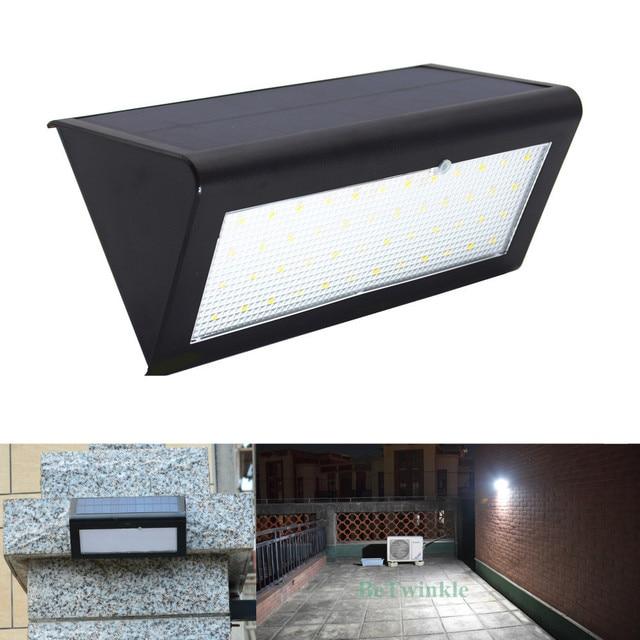 סופר מואר שמש LED אור עם חיישן תנועה עמיד למים 48 נוריות 800LM שמש מנורת תאורה חיצונית קיר מנורות משודרג גרסה