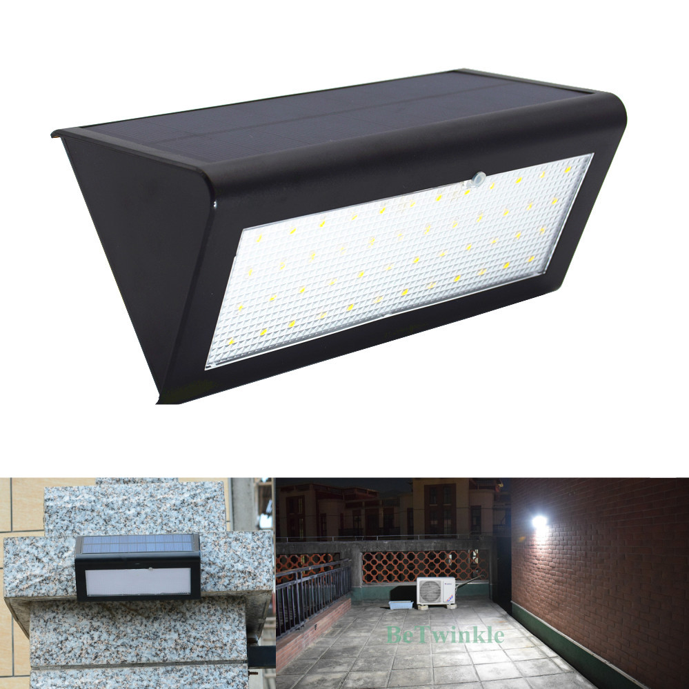 Super Bright Solar LED Light With Motion Sensor Waterproof 48LEDs 800LM Solar Lamp Outdoor Lighting Wall Lamps Upgraded Version