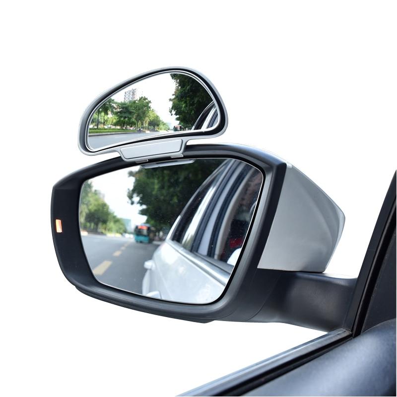 Espelhos traseiros de 360 graus, espelhos para ponto cego ajustáveis de alta qualidade para estacionamento, espelho auxiliar, 1 peça ver espelho
