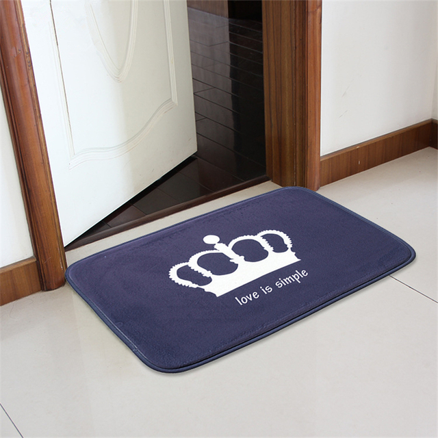 Aliexpress.com : Buy Honlaker Crown Printing Flannel Doormat Soft ...