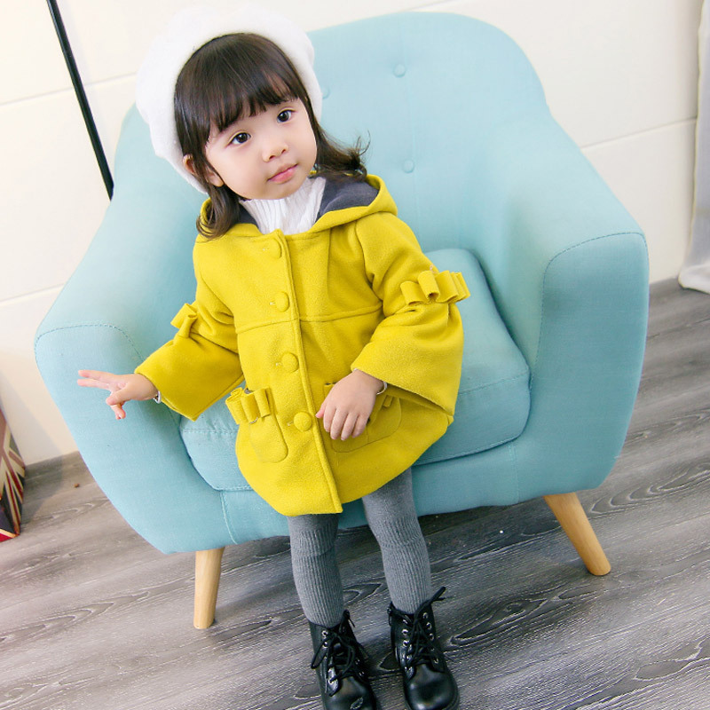 Фото 1-4T Fashion Winter Girls Coat Jackets Casaco Hooded Baby Outerwear Children Kids Clothing Infantil Next Thicken Clothes