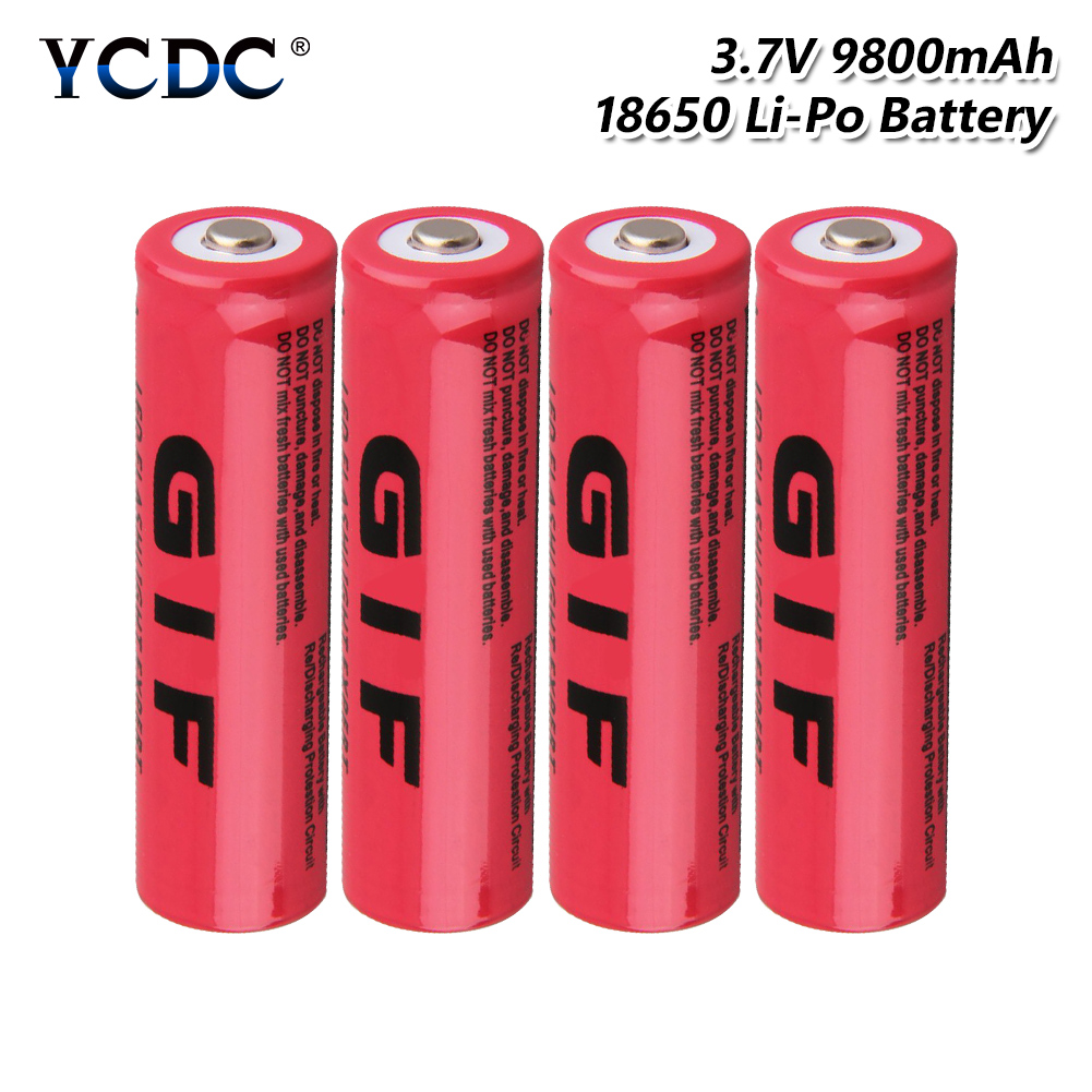 10 X 3.7/Volt/Rechargeable Battery/18650 9800mah/18650 Battery for LED Flashlight Torch,Small Fan Radio Electric Tools Remote Control Toys Mobile Power Yellow