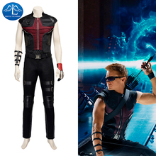 MANLUYUNXIAO Men's The Avengers Hawkeye Costume Clinton Francis Barton Short Sleeves Cosplay Costume For Men Halloween Costume