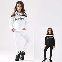 Baby Girls Outfit Off Shoulder Sport Suit 2 Pcs Clothing Set Black White Baseball Costumes Age