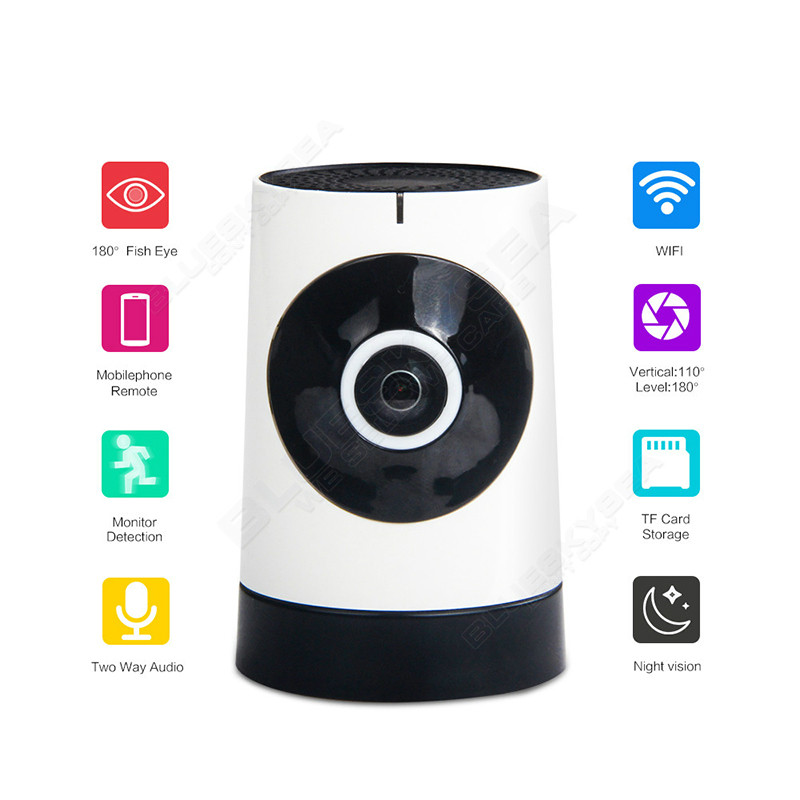 WIFI Wireless Wireless 180 Degree Mini 720P HD IR-Cut Webcam Night Vision Baby Sleep Monitor Home Protection