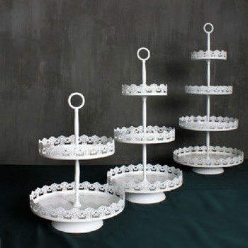Facemile 2.3.4 Tiers European Style Desserts metal tray and Wedding Gift Stand cupcake tray 77018 image