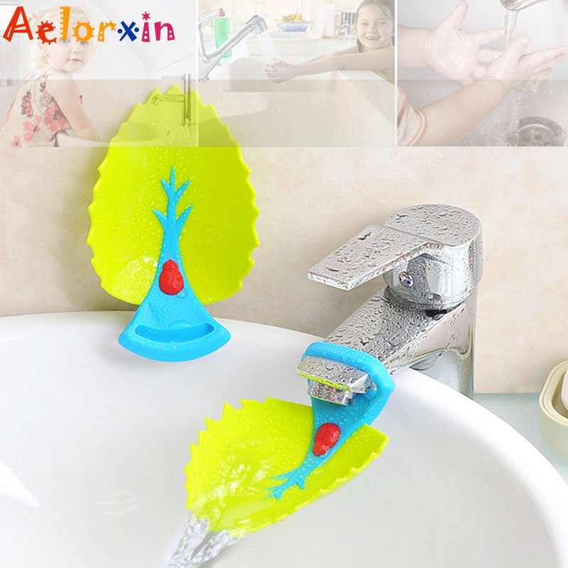 Leaves Newborn Bathroom Water Faucet Extension Children's Guide Sink Children's Guide  Washing HandsTools Extension Of The Water