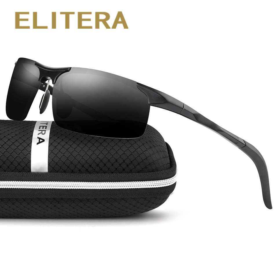 ELITERA Aluminium Men's Polarized Mirror Sun Glasses Man Driving Fishing Outdoor Eyewears Tillbehör Solglasögon För Män