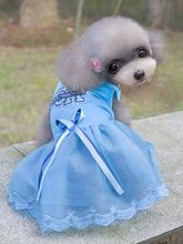 FG13 free shipping Pet skirt Dress Dog Dresses Summer Teddy Dress For Dogs Pet Clothes NEW arrival