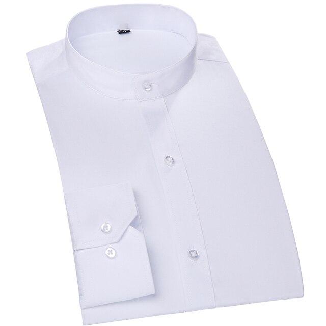 100% Cotton Mandarin Color Men Shirts Formal Business Wedding Shirts T0058