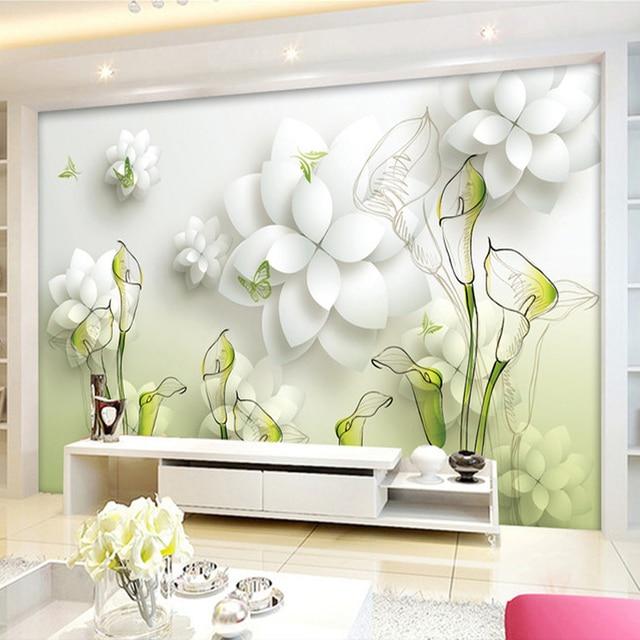 Calla beibehang TV papel de parede do desktop 3d painel de