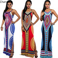 Women Summer Maxi Dress 2016 Bodycon Party Dresses Plus Size Sexy Backless Bandage Dashiki Boho Long Dress Vestidos Sundress