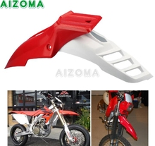 For Honda XR400 CRF250 CRF450 CRF500RG Red Front Fender Supermoto Dirt Bike Offroad Universal Mudguard Extension Protector