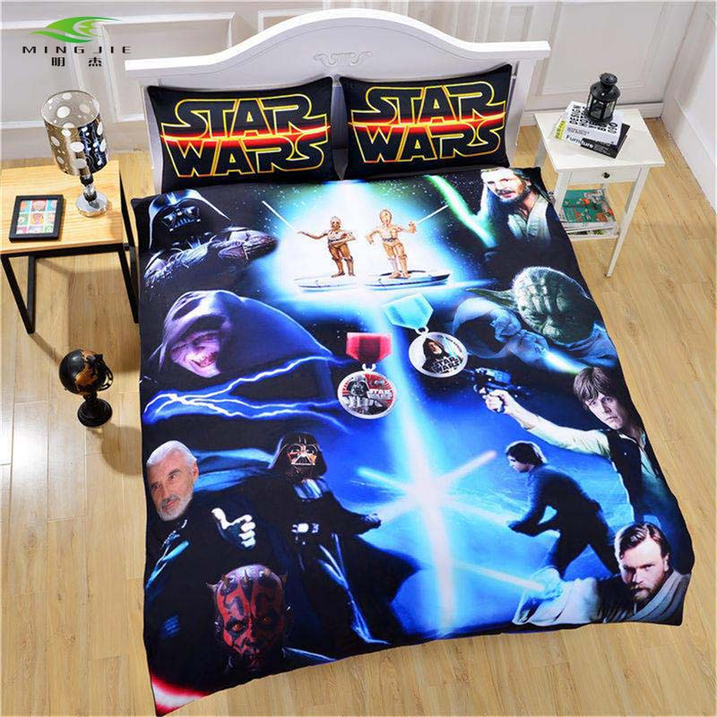 Star Wars Film 3D Bedding Set Print Duvet Cover with Pillowcases Twin Full Queen King Beautiful Pattern Real Lifelike Microfiber image