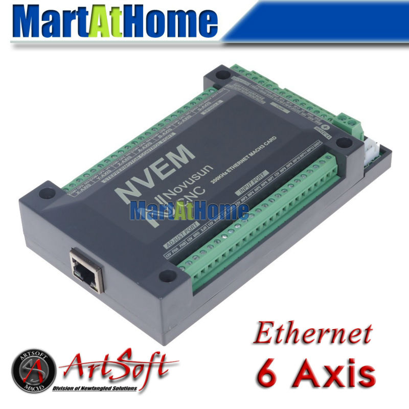 Cnc 6 aixs 200khz ethernet mach3 motion control card for for Cnc stepper motor controller