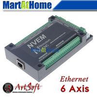 CNC 6 Aixs 200KHZ Ethernet MACH3 Motion Control Card for Servo Motor, Stepper Motor #SM726 @SD