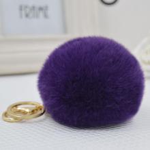 1PCS P&J 2016 Keychain Fluffy Ball 8cm Cute Imitation Rabbit Fur Ball Key Chain Bag Pendant Fur Accessories Key Holder For Women