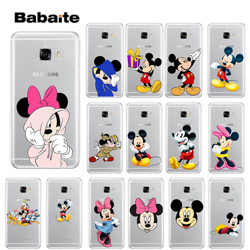 Babaite Cartoon Mickey <font><b>Minnie</b></font> Maus DIY High-end Protector Fall für <font><b>Samsung</b></font> S6edge S6 rand plus <font><b>S7</b></font> rand <font><b>S7</b></font> s8 S9 Mobile Abdeckung image