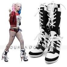 Harley Quinn Zapato Comando Suicida de Cosplay Disfraces de Halloween Para Las Mujeres