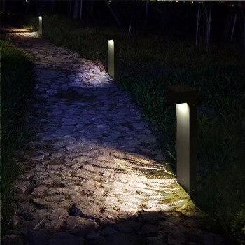 Nueva Llegada Al Aire Libre Luces Led De Mazorca LED Chip Lámparas Led Para Jardín 5W LED Poste Luces De Jardín Iluminación Cuadrada AC100-240V