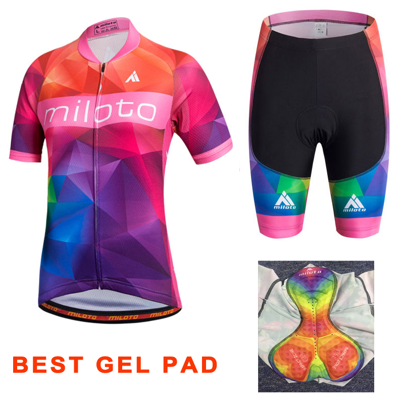 MILOTO Ropa Ciclismo Women's Cycling Jersey Summer Short Sleeve Bicycle Cycling Clothing Roupa De Ciclismo MTB Bike Jersey Sets keyiyuan children cycling clothing set ropa ciclismo bicycle kids summer bike short sleeve jersey shorts sets blue