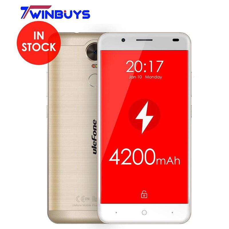 bilder für Ulefone Tiger Smartphone 4200 mah MTK6737 Quad core Android 6.0 5,5 Zoll 2G RAM 16G ROM 720 P Fingerprint 13MP 4G LTE Handy
