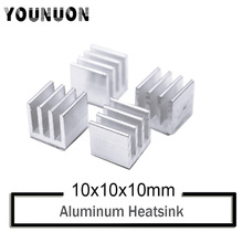 10Pcs YOUNUON Silver 10x10x10mm Aluminum Heat Sink Radiator Heatsink,Electronic Chip Cooling Radiator Cooler for IC MOSFET SCR swivel neck thermostat cooling component housing radiator hose for acura honda civic k20 k24 k swap