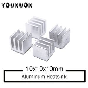 10Pcs YOUNUON Silver 10x10x10mm Aluminum Heat Sink Radiator Heatsink,Electronic Chip Cooling Radiator Cooler for IC MOSFET SCR(China)
