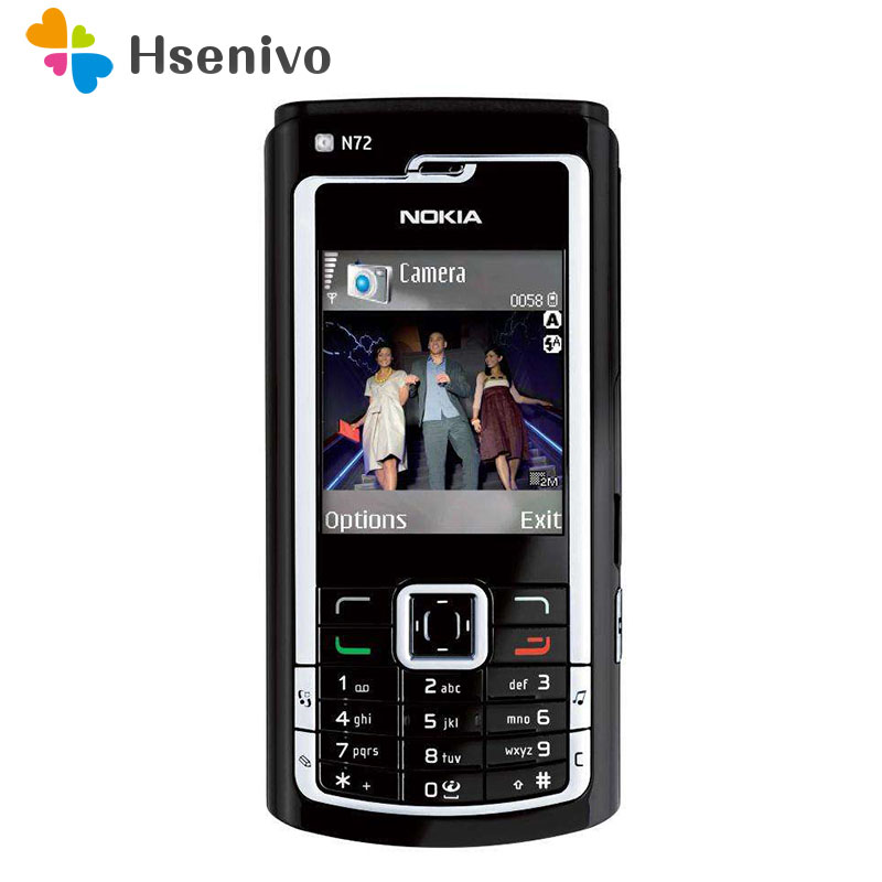 N72 Original NOKIA N72 Mobile Cell Phone & Russian Arabic Keyboard & One Year Warranty Free Shipping