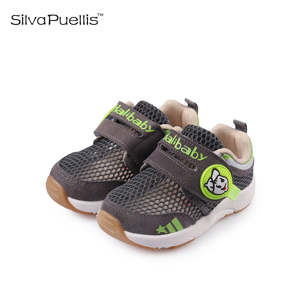 SilvaPuellis Children's Shoes 2018 New Spring And Summer Boys Shoes Girls Shoes Breathable Lattice Gray Men And Women Shoes 2016 spring and summer free shipping red new fashion design shoes african women print rt 3