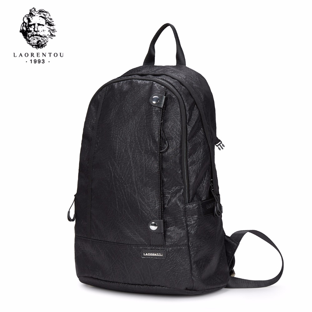 LAORENTOU New Arrivals Oxford Backpack For Men Laptop Computer Casual Black Backpack Business Bags Big Capacity School Bag N50 augur oxford 17inch laptop men backpack large capacity student school bag for college patchwork business trip men rucksack