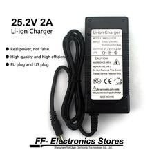 24 V 25.2 V 2A 18650 DCแบตเตอรี่ลิเธียมแบตเตอรี่ชาร์จ5.5*2.1มม.+ จัดส่งฟรี