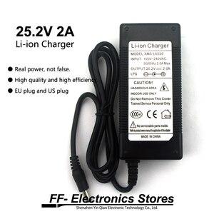 Image 1 - 24 V Lader 25.2 V 2A 18650 Dc Lithium Batterij Oplader 5.5*2.1 Mm + Gratis Verzending