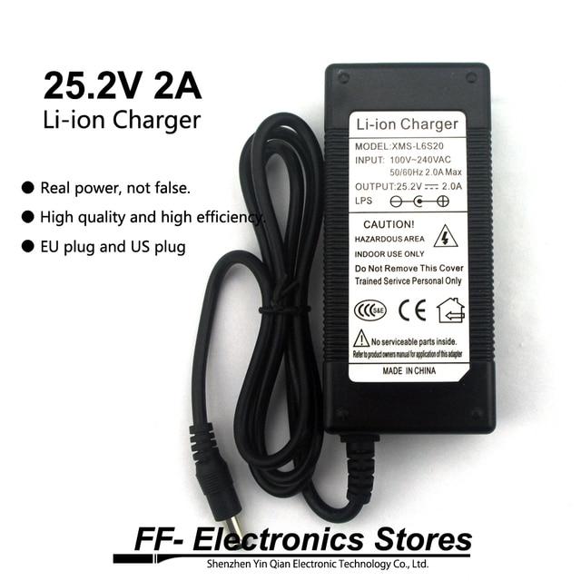 24 v Ladegerät 25,2 v 2A 18650 DC Lithium-Batterie Ladegerät 5,5*2,1 MM + Kostenloser Versand