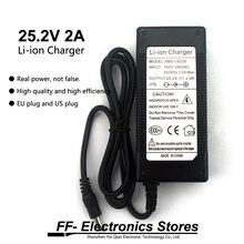 24 v carregador 25.2 v 2a 18650 dc carregador de bateria de lítio 5.5*2.1mm + frete grátis
