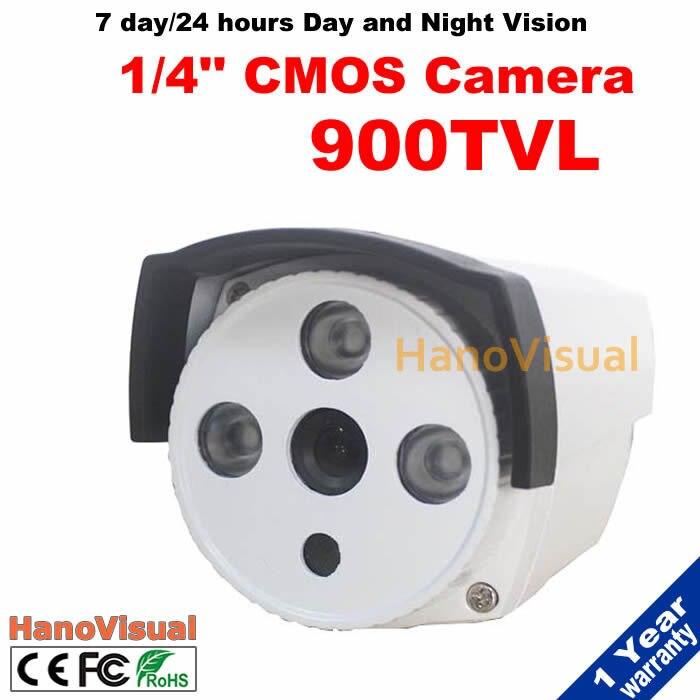 ФОТО CMOS Sensor Waterproof Outdoor 900TVL CCTV Camera 3 Array Leds Night Vision Home Security Surveillance Camera Color Image